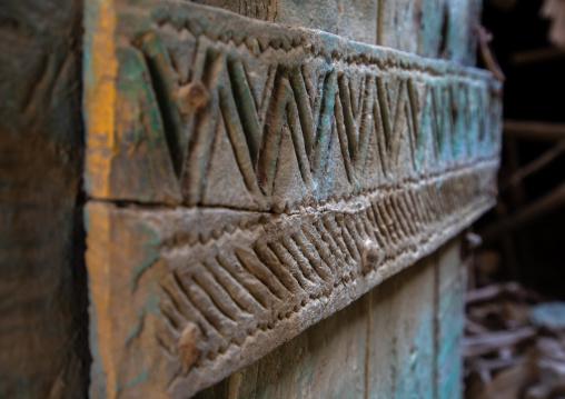 Old wooden door in al-Namas village, Al-Bahah region, Altawlah, Saudi Arabia
