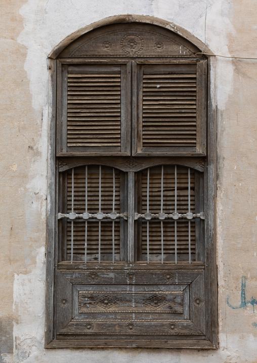Old wooden window, Mecca province, Taïf, Saudi Arabia