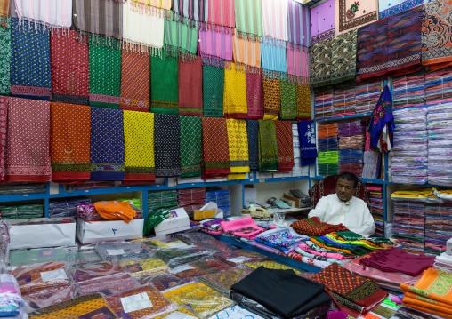 Textiles shop, Mecca province, Jeddah, Saudi Arabia