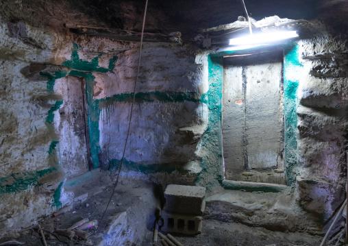 Inside an old stone house, Jizan Province, Addayer, Saudi Arabia