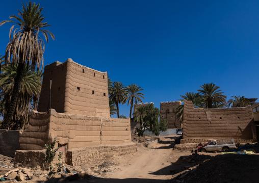 Old village of traditional mud houses, Najran Province, Najran, Saudi Arabia