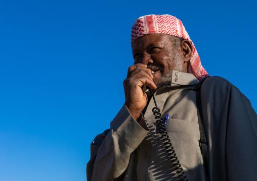 Saudi man in the camel market, Najran Province, Najran, Saudi Arabia
