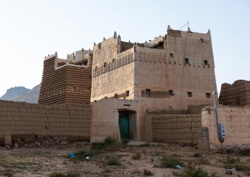 Old village of traditional mud houses, Asir province, Ahad Rufaidah, Saudi Arabia