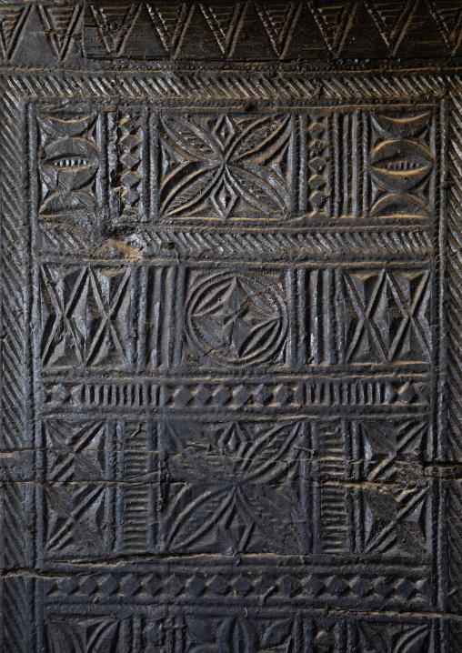 Detail of an old wooden door, Asir province, Abha, Saudi Arabia