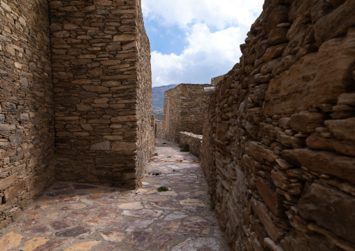 Fortified stone houses in a village, Asir province, Tanomah, Saudi Arabia