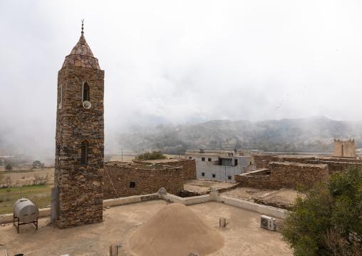 Mosque made of stones, Asir province, Tanomah, Saudi Arabia