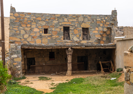 Old houses built in stones in heritage village, Asir province, Al Olayan, Saudi Arabia