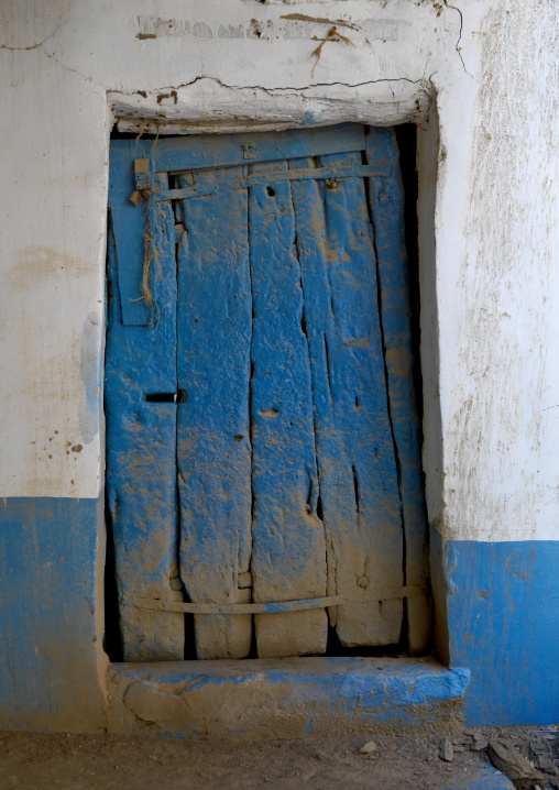 Door of a multi-storey houses made of stones, Rijal Almaa Province, Rijal Alma, Saudi Arabia