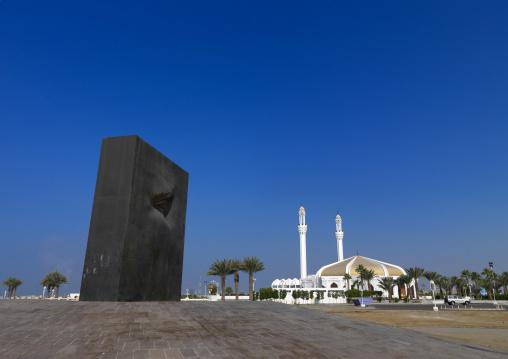 Modern art on the corniche, Mecca province, Jeddah, Saudi Arabia