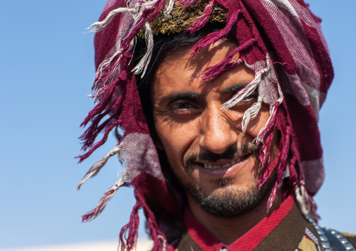 Portrait of an asiri man, Asir province, Al Farsha, Saudi Arabia