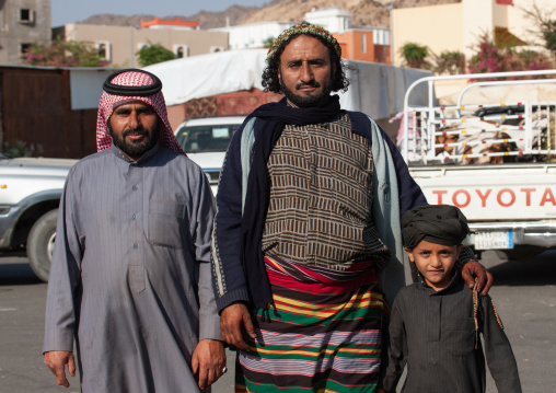 Portrait of asiri flower men, Asir province, Al Farsha, Saudi Arabia