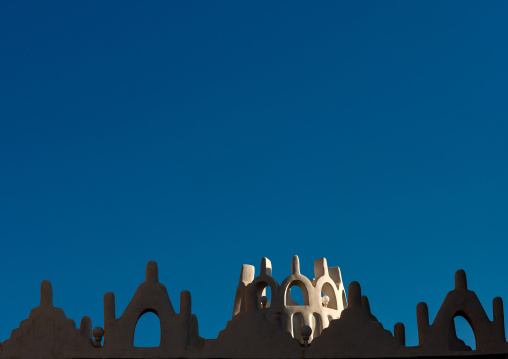 Emarah palace crenelss in aba alsaud historical area, Najran Province, Najran, Saudi Arabia