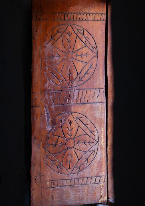 Old wooden door in emarah palace, Najran Province, Najran, Saudi Arabia