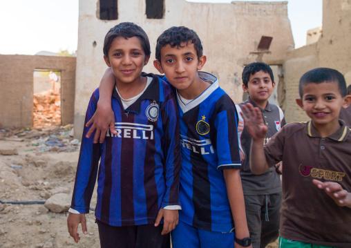 Saudi boys in the street, Najran Province, Najran, Saudi Arabia