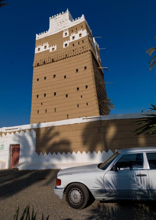 Traditional mud-bricks house, Najran Province, Najran, Saudi Arabia
