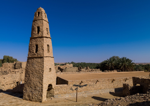Omar ibn al-khattab mosque minaret, Al-Jawf Province, Dumat Al-Jandal, Saudi Arabia