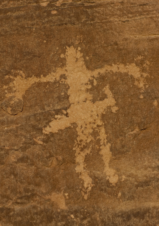 Petroglyphs rock art depicting a man, Najran Province, Abar Himma, Saudi Arabia