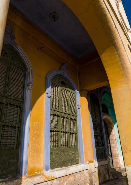 Arcade in katib house, Makkah Province, Taif, Saudi Arabia