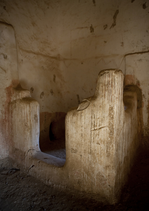 Bathroom inside a traditional house, Najran Province, Najran, Saudi Arabia