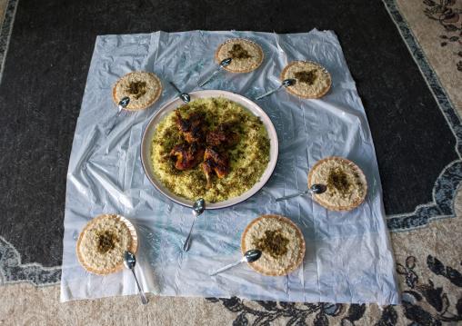 Traditional food made of rice, Al-Jawf Region, Al-Jawf, Saudi Arabia