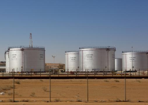 Oil tanks, Al-Jawf Province, Sakaka, Saudi Arabia