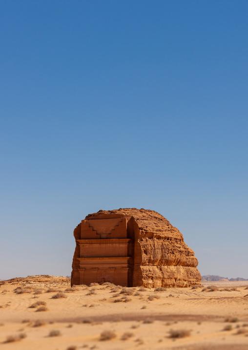 Qsar farid nabataean tomb in madain saleh archaeologic site, Al Madinah Province, Al-Ula, Saudi Arabia