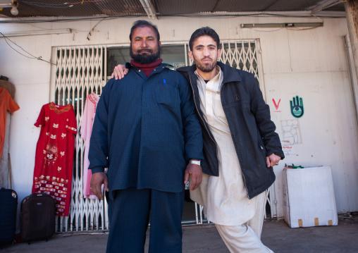Foreign workers in a shop, Al Madinah Province, Al-Ula, Saudi Arabia