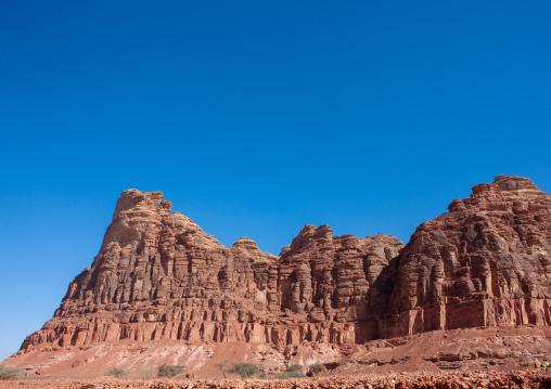 Landscape with hills around madain saleh archaeologic site, Al Madinah Province, Al-Ula, Saudi Arabia
