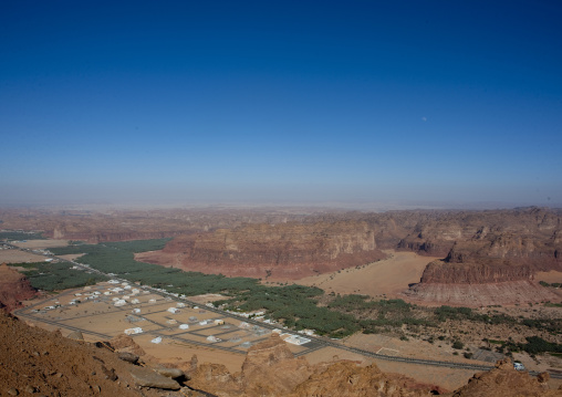 The old town in the middle of the wadi al-qura, Al Madinah Province, Alula, Saudi Arabia