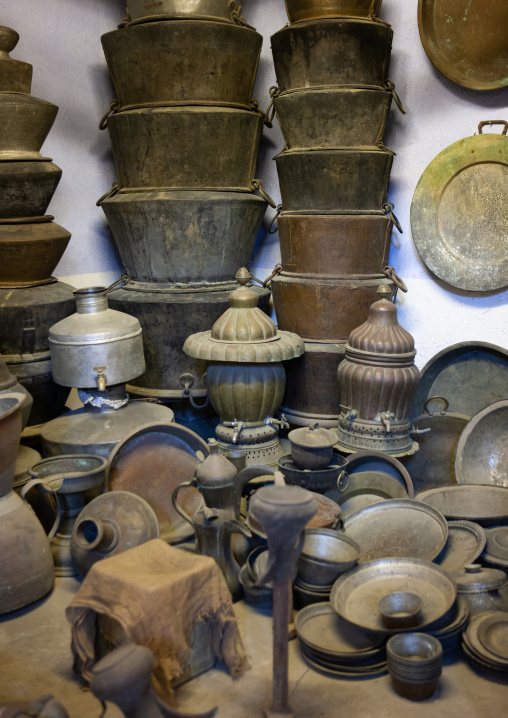 Traditionnal arabian ustensiles in a museum, Mecca province, Taif, Saudi Arabia