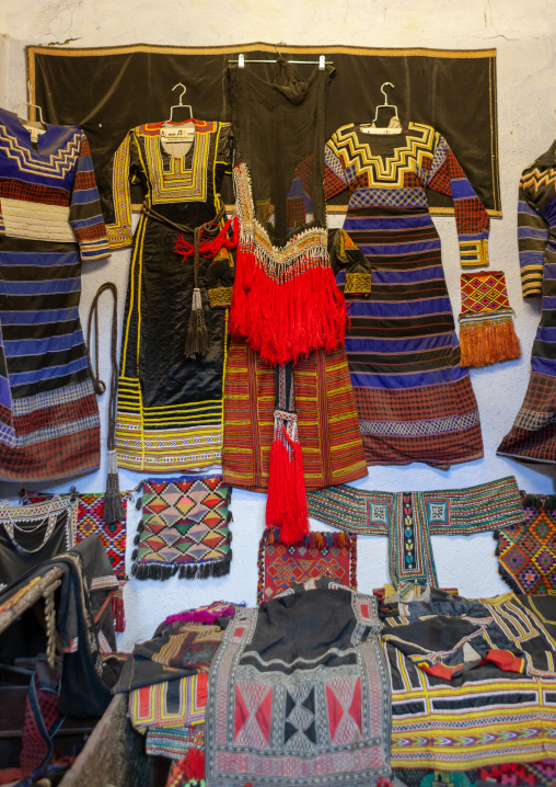 Traditional clothes in a museum, Makkah province, Taif, Saudi Arabia