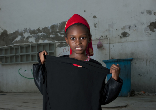 Somali refugee girl portrait, Mecca province, Jeddah, Saudi Arabia