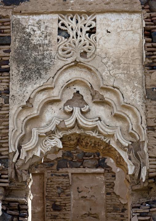 Idriss palace gypsum decoration, Jizan Province, Jizan, Saudi Arabia