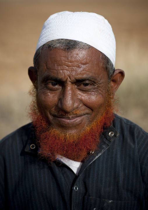 Saudi farmer with a red beard, Jizan Province, Jizan, Saudi Arabia