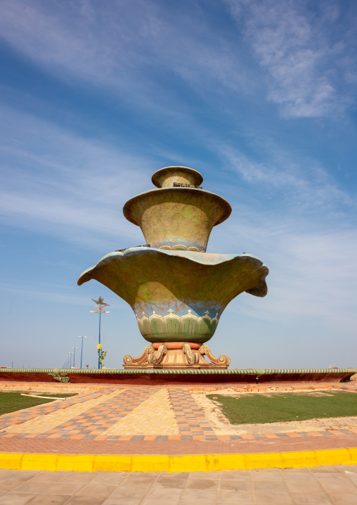 Bowl shap roundabout, Jizan Region, Jizan, Saudi Arabia