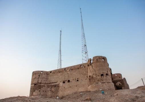 Turkish fort and telecom antennas, Jizan Region, Jizan, Saudi Arabia