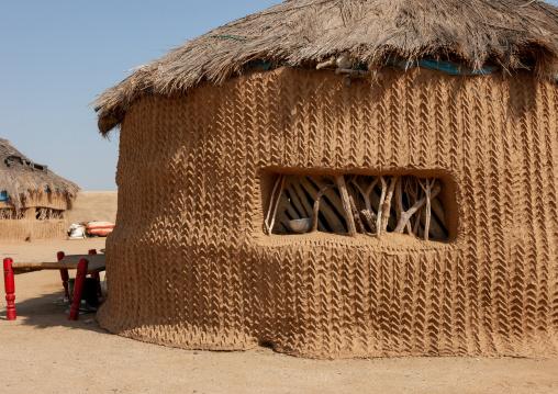 Traditional hut on the tihama coast, Jizan Region, Jizan, Saudi Arabia