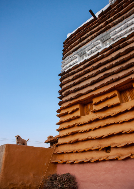 Traditional clay and silt homes in a village, Asir Province, Aseer, Saudi Arabia