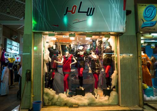 Western clothes in a window shop, Riyadh Province, Riyadh, Saudi Arabia