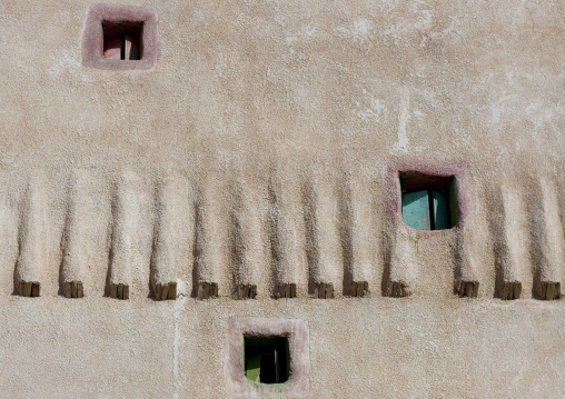 Traditional clay and silt homes in a village, Najran Province, Najran, Saudi Arabia