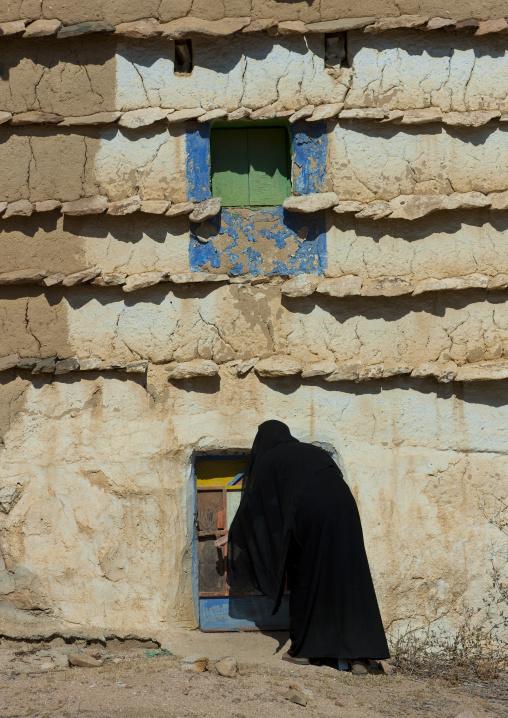 Traditional old mud house, Najran Province, Najran, Saudi Arabia