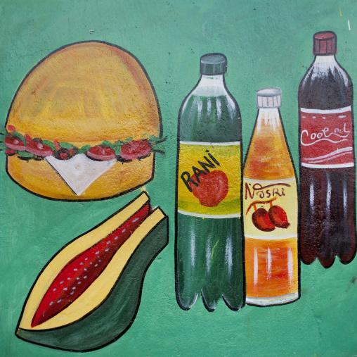 Coca Cola And Food Painted Bilboard Advertisement, Hargeisa, Somaliland