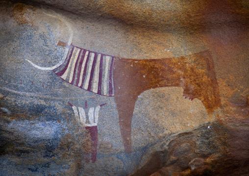 Laas Geel Rock Art Caves, Paintings Depicting Cows And Human Beings, Hargeisa, Somaliland