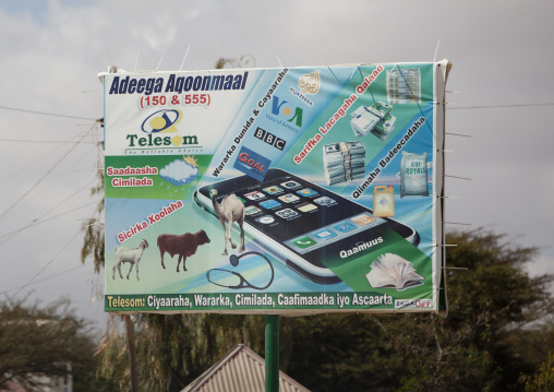 An Advertisement Bilboard For The Telecom Company Telesom , Hargeisa, Somaliland