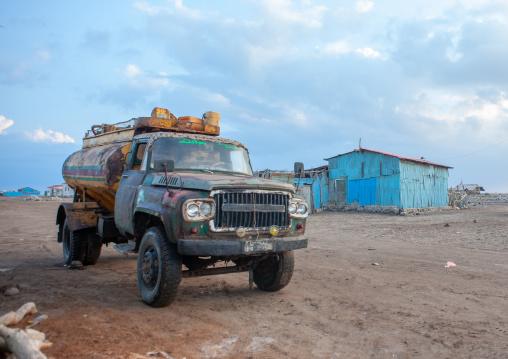 Truck bringing water in town, Awdal region, Zeila, Somaliland