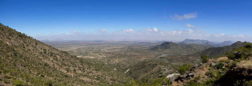 A Panoramic View Of The Sheikh Hussein Mountains, Somaliland