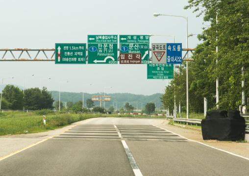 Road sign on the way to the dmz, Sudogwon, Paju, South korea