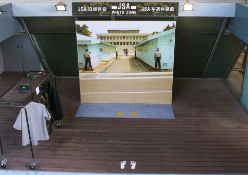 Photo studio at the jsa to pose in front of panmunjeom, Sudogwon, Paju, South korea