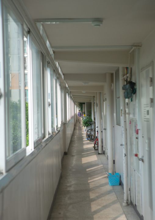Residential apartments in yangcheong where many north korean defectors live, National capital area, Seoul, South korea
