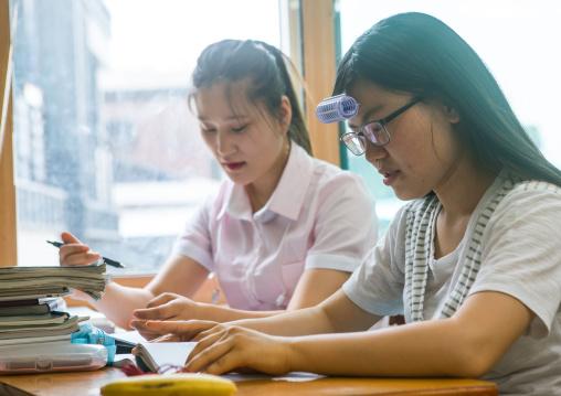 North korean teens defectors in yeo-mung alternative school, National capital area, Seoul, South korea